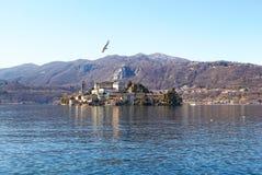 Eiland van San Giulio Stock Foto