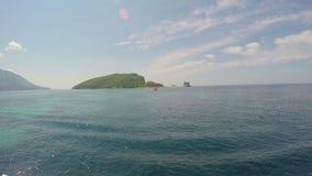 Eiland van St Nicolas montenegro stock footage