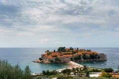 Eiland van St Stefan montenegro Stock Afbeeldingen