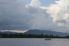 Eiland van zijde in Kambodja Royalty-vrije Stock Foto