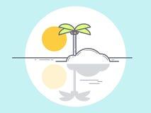 Eiland, vectorillustratie Royalty-vrije Stock Afbeelding