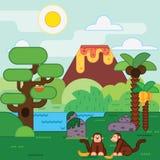 Eiland, wildernis, Tropisch landschap Stock Afbeeldingen