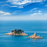 Eilanden in Adriatische Overzees, Montenegro royalty-vrije stock fotografie