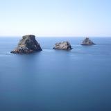 Eilanden bij Kaap pen-Hir Royalty-vrije Stock Foto