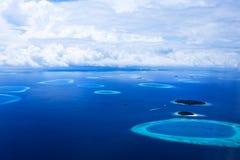 Eilanden in de Maldiven Royalty-vrije Stock Foto's