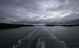 Eilanden dichtbij Zweedse, gedronken zeemansreis Royalty-vrije Stock Fotografie