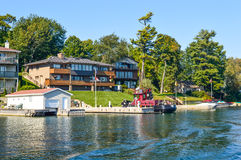 1000 eilanden en Kingston in Ontario Royalty-vrije Stock Foto's