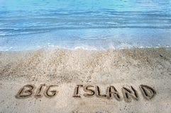 Eilanden in het zand Grote Eiland Royalty-vrije Stock Afbeelding