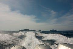 Eilanden van de Golf van Thailand stock foto's