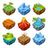 Eilanden van de Isometrische Reeks van het Computerspel Stock Fotografie