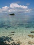 Eilandje dichtbij Malapascua, Phils Stock Afbeelding
