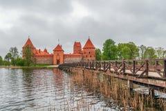 Eilandkasteel Trakai litouwen stock foto