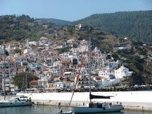 Eilandskopelos in Griekenland royalty-vrije stock foto's