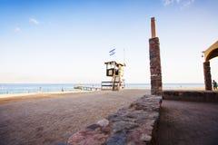 EILAT, ΙΣΡΑΉΛ - 8 ΟΚΤΩΒΡΊΟΥ 2017: Ακτή του Κόλπου Ερυθρών Θαλασσών Eilat Στοκ Φωτογραφίες