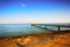 EILAT, ΙΣΡΑΉΛ - 8 ΟΚΤΩΒΡΊΟΥ 2017: Ακτή του Κόλπου Ερυθρών Θαλασσών Eilat Στοκ εικόνα με δικαίωμα ελεύθερης χρήσης