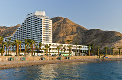 eilat σύγχρονο θέρετρο του Ισραήλ ξενοδοχείων Στοκ εικόνα με δικαίωμα ελεύθερης χρήσης