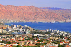 Eilat. Eilat - resort city on the Red sea in south Israel. The mountains are the Jordan territory Stock Images