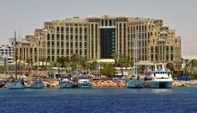 小船eilat以色列海滨广场乐趣 免版税库存照片