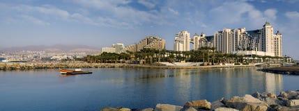eilat以色列海滨广场全景 免版税库存照片