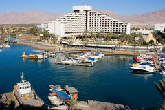 Eilat. Is Israel's southernmost city, a busy port as well as a popular resort, located at the northern tip of the Red Sea, on the Gulf of Royalty Free Stock Photo