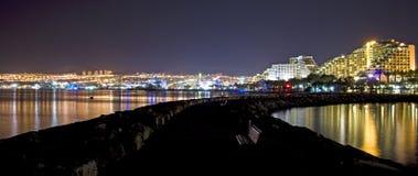 Eilat bij nacht Stock Foto's