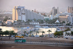 Eilat city hotel Stock Images