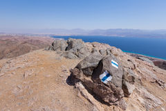 Eilat city mountains and Red sea view Royalty Free Stock Photo