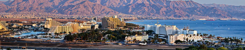 Eilat est station touristique populaire en Israël Photo libre de droits