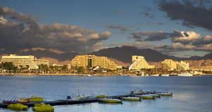 Eilat is a famous resort city of Israel Stock Photos