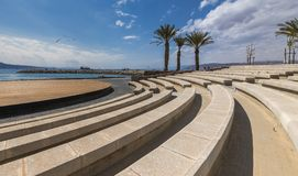 Central promenade in Eilat city, Israel royalty free stock photo