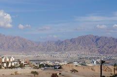 Eilat gulf and Aqaba Royalty Free Stock Image