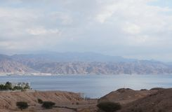 Eilat Gulf and Aqaba Stock Images