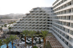 Eilat hotel view. View of eilat  hotel in daylight Royalty Free Stock Images