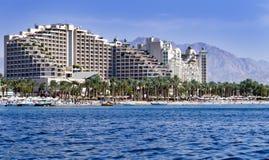 eilat hoteli/lów Israel kurort Obraz Royalty Free