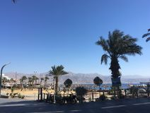 Eilat i december, Israel Arkivfoto