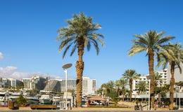 Eilat, Israël 15 Januari, 2018: Centrale promenade in Eilat, Israël Royalty-vrije Stock Afbeelding
