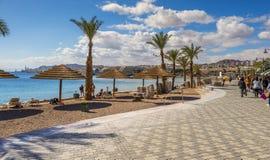 Eilat, Israël 15 Januari, 2018: Centrale promenade in Eilat, Israël Royalty-vrije Stock Afbeeldingen