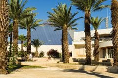 Eilat, Israel – November 7, 2017: central entrance to the city museum `Eilat Iri`, Eilat, Israel stock images