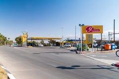 Petrol gas station belong to Paz Oil Company. Eilat, Israel - February 9, 2019: Petrol gas station belong to Paz Oil Company stock photo