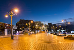 EILAT, ISRAEL - JANUARY 06, 2017: Night at central promenade in Eilat Royalty Free Stock Image