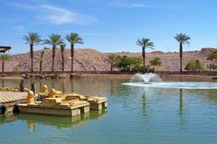 Timna Park of Israel stock image