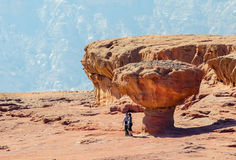 Eilat, Israel - October 13, 2011: Tourists in Timna park, Israel Stock Images