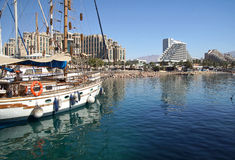 Eilat Israel. Tourism marina resort Stock Photo