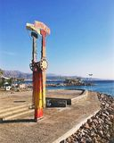 Eilat Israel Waterfront. Waterfront boardwalk in Eilat, Israel on the Gulf of Aqaba in the middle east stock images