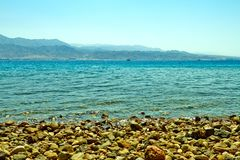 Eilat kurortu Czerwonego morza pla?a obrazy stock