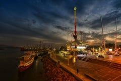 Eilat marina, Israel, night scene Royalty Free Stock Photography