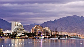 Eilat at the morning. This shot was taken at the morning time in the center of Eilat- one of the famous tourist spot and resort city in Israel Royalty Free Stock Photo