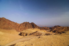 Eilat mountains. And red sea, Eilat, Israel Royalty Free Stock Photos
