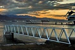 Eilat nella penombra Fotografie Stock Libere da Diritti
