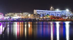 Eilat at night Stock Photos
